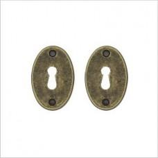 Нижняя розетка с отверстием под межкомнатный ключ MARTINELLI BO14 AF key