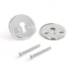 Нижняя розетка с отверстием под межкомнатный ключ Apecs DP-S-06-CR