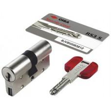 Цилиндровый механизм CISA RS3 S ключ-ключ хром 50x50