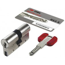 Цилиндровый механизм CISA RS3 S ключ-ключ хром 35x40