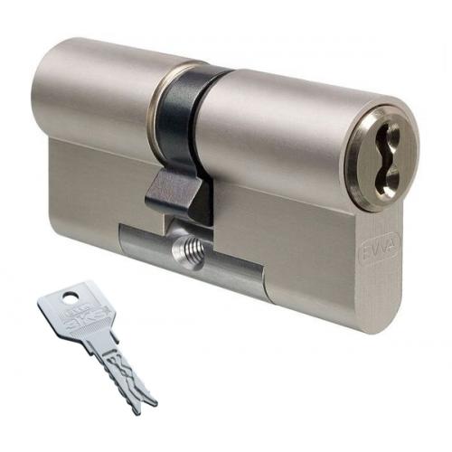Цилиндровый механизм EVVA 3KS ключ-ключ никель 36x36