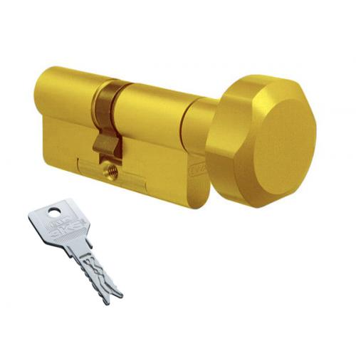 Цилиндровый механизм EVVA 3KS ключ-вертушка латунь 41x41