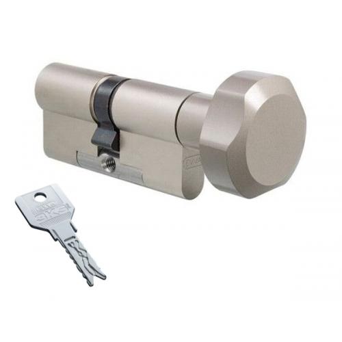 Цилиндровый механизм EVVA 3KS ключ-вертушка никель 41x41