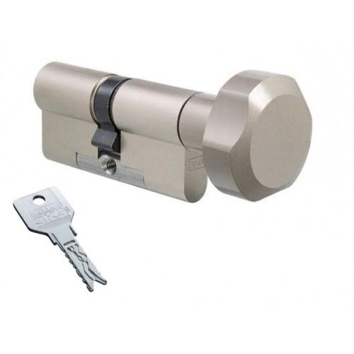 Цилиндровый механизм EVVA 3KS ключ-вертушка никель  41x31