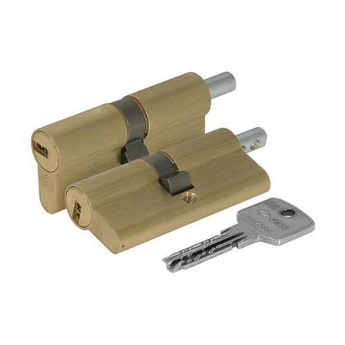 Цилиндровый механизм CISA Astral ключ-вертушка латунь 50x50