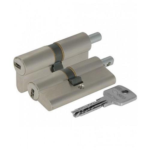 Цилиндровый механизм CISA Astral ключ-вертушка хром 45x45