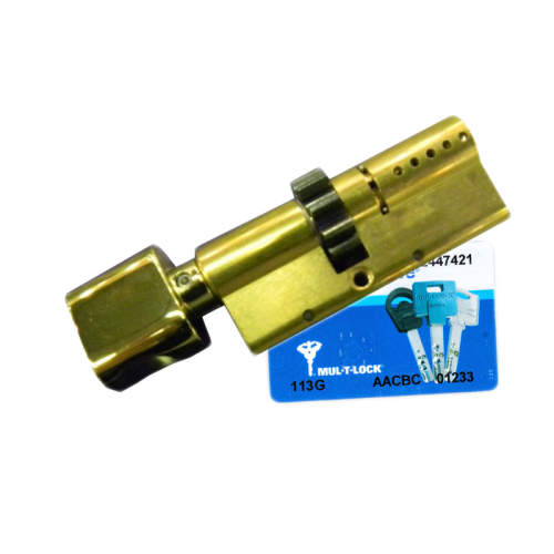Цилиндровый механизм MUL-T-LOCK Interactive ключ-вертушка шестирёнка латунь 33x38