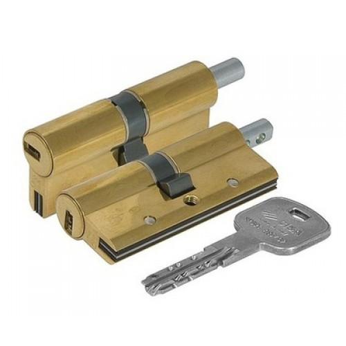 Цилиндровый механизм CISA AP 3 S ключ-вертушка латунь 30x60