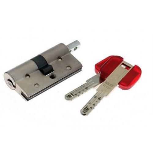 Цилиндровый механизм CISA RS3 S ключ-вертушка хром 40x40