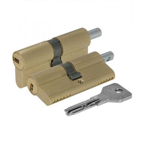 Цилиндровый механизм CISA Asix ключ-вертушка латунь 30x30