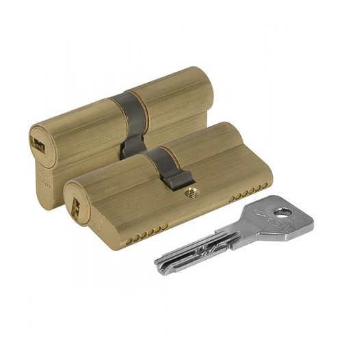 Цилиндровый механизм CISA Asix ключ-ключ латунь 35x35