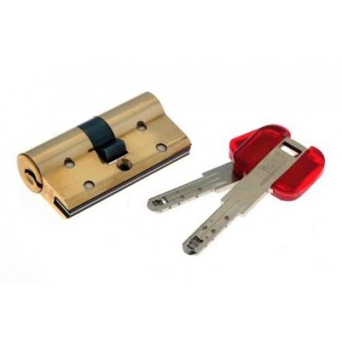 Цилиндровый механизм CISA RS3 S ключ-ключ латунь 40x30