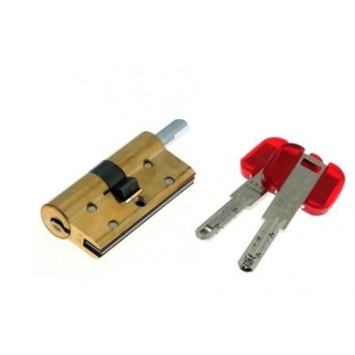 Цилиндровый механизм CISA RS3 S ключ-вертушка латунь 45x45