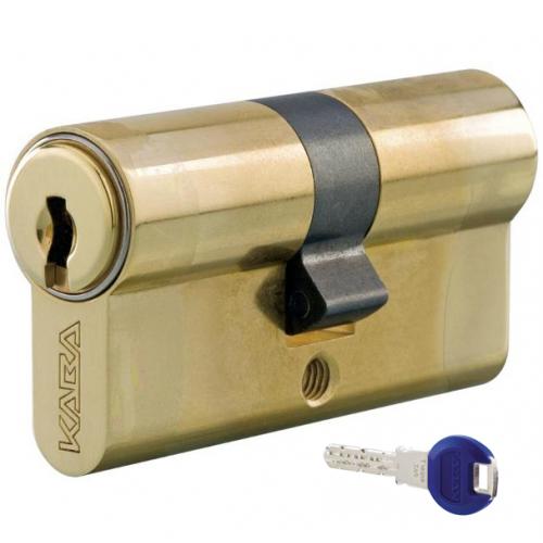 Цилиндровый механизм KABA ExperT ключ-ключ латунь 30x30