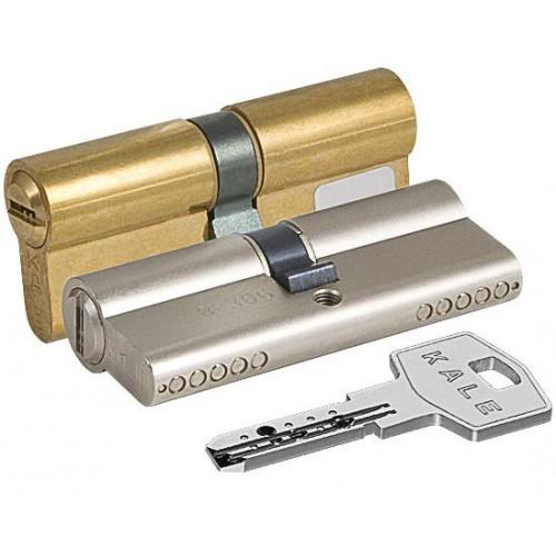 Цилиндровый механизм KALE BN ключ-ключ никель 35x45