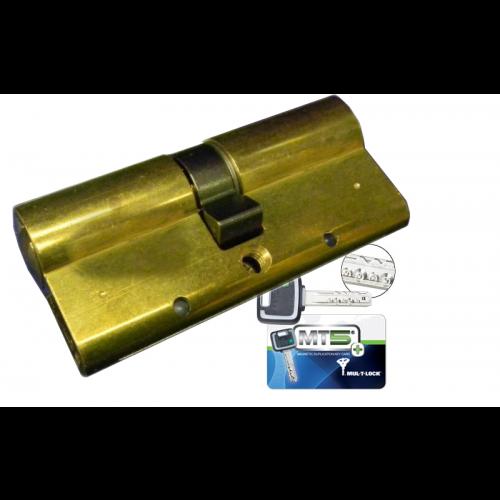 Цилиндровый механизм MUL-T-LOCK MT5+ ключ-ключ латунь 33x43