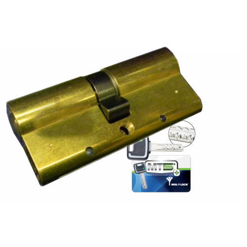 Цилиндровый механизм MUL-T-LOCK MT5+ ключ-ключ латунь 33x31