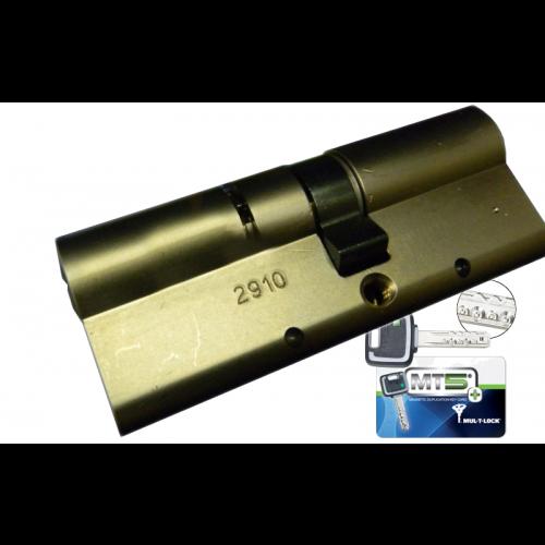 Цилиндровый механизм MUL-T-LOCK MT5+ ключ-ключ никель 45x45