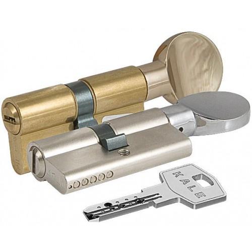 Цилиндровый механизм KALE BM ключ-вертушка никель 40x40
