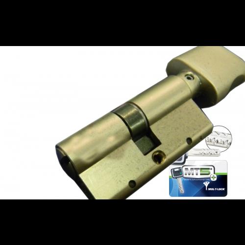Цилиндровый механизм MUL-T-LOCK MT5+ ключ-вертушка никель 31x31