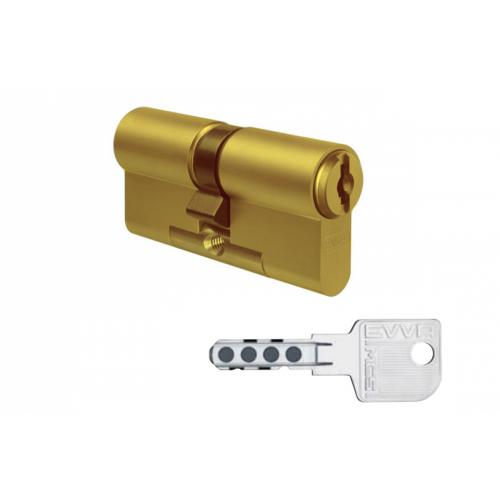 Цилиндровый механизм EVVA MCS ключ-ключ латунь 31x31