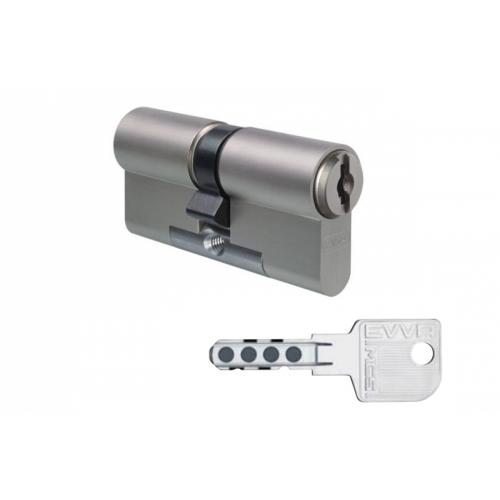 Цилиндровый механизм EVVA MCS ключ-ключ никель 31x31