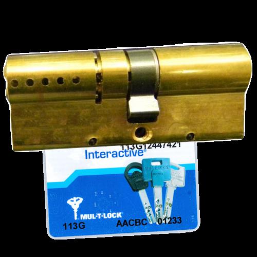 Цилиндровый механизм MUL-T-LOCK Interactive ключ-ключ латунь 33x33