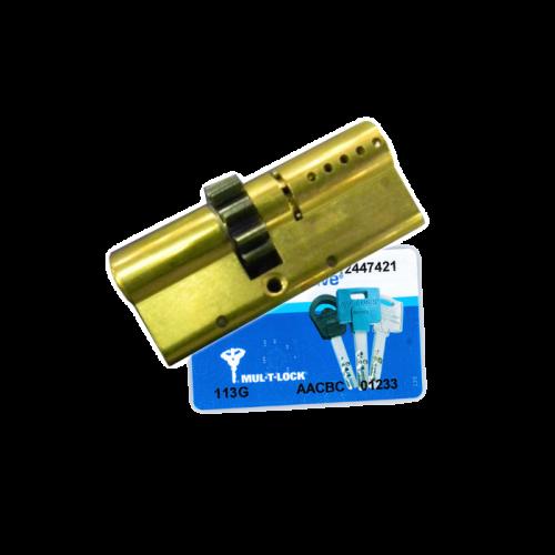 Цилиндровый механизм MUL-T-LOCK Interactive ключ-ключ шестирёнка латунь 33x33