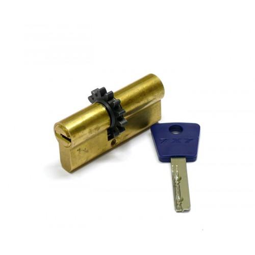 Цилиндровый механизм MUL-T-LOCK 7х7 ключ-ключ шестирёнка латунь 40x40