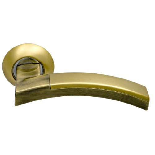 Ручки на круглой розетке ARCHIE SILLUR 132 S.GOLD BR
