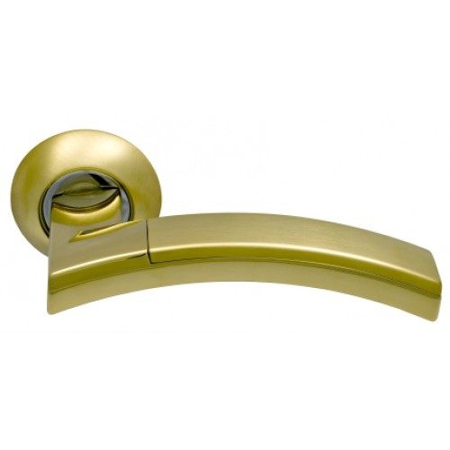 Ручки на круглой розетке ARCHIE SILLUR 132 S.GOLD P.GOLD