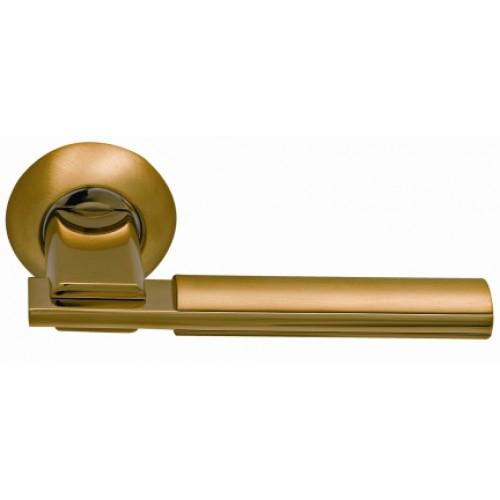 Ручки на круглой розетке ARCHIE SILLUR 94A S.GOLD P.GOLD