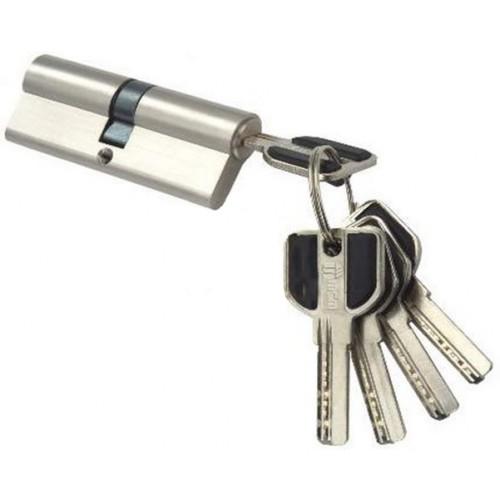 Цилиндровый механизм MSM ключ-ключ (профильный) никель 30x30