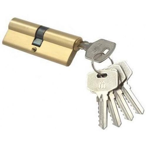 Цилиндровый механизм MSM ключ-ключ латунь 50x50