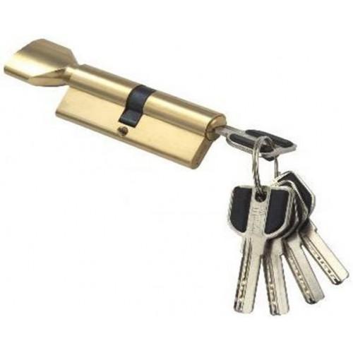 Цилиндровый механизм MSM ключ-вертушка (профильный) латунь 45x45