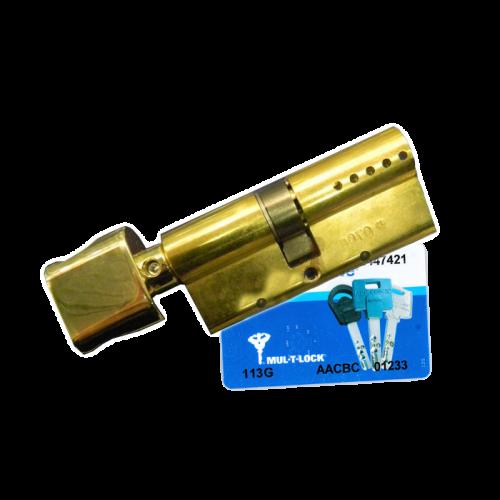 Цилиндровый механизм MUL-T-LOCK Interactive ключ-вертушка латунь 65x35