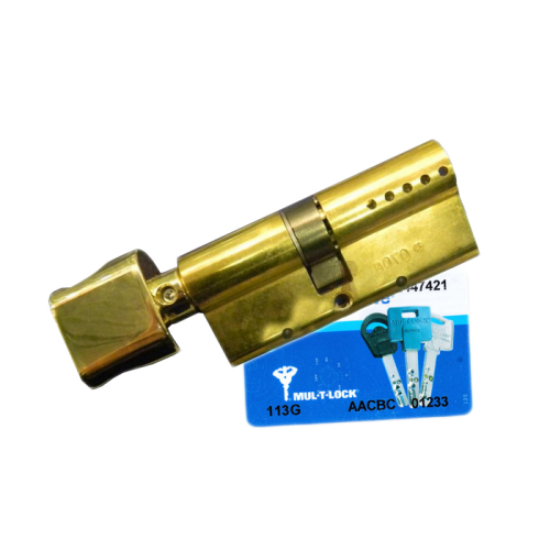 Цилиндровый механизм MUL-T-LOCK Interactive ключ-вертушка латунь 38x33