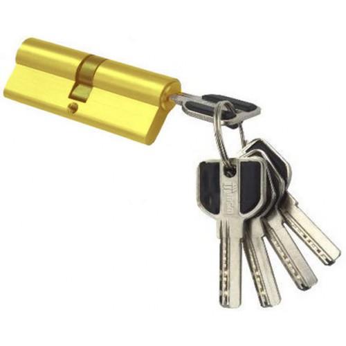 Цилиндровый механизм MSM ключ-ключ (профильный) латунь 30x30