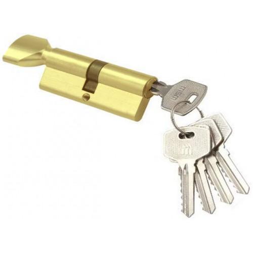 Цилиндровый механизм MSM ключ-вертушка латунь 35x35