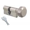Цилиндровый механизм EVVA 3KS ключ-вертушка никель 36x36