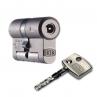 Цилиндровый механизм DOM Diamant ключ-ключ никель-сатин 32x32