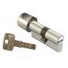 Цилиндровый механизм DOM Saturn ключ-вертушка никель-сатин 40x40