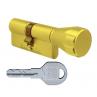 Цилиндровый механизм EVVA ICS ключ-вертушка латунь 31x31