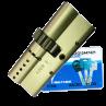 Цилиндровый механизм MUL-T-LOCK Interactive ключ-ключ шестирёнка никель 33x33